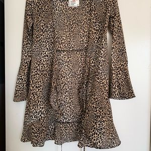 H&M cheetah print wrap dress